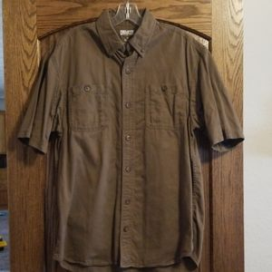 Duluth Brown Button Up Cotton Work Shirt